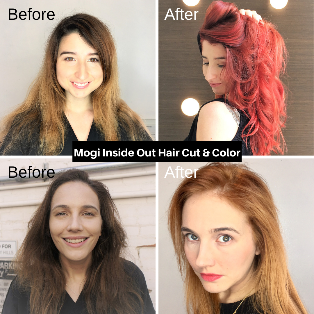 Mogi Inside Out Haircut and Color Before and After